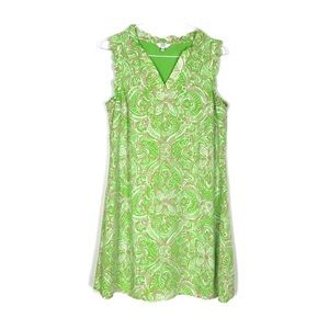 Crown & Ivy Green and Pink Print Dress